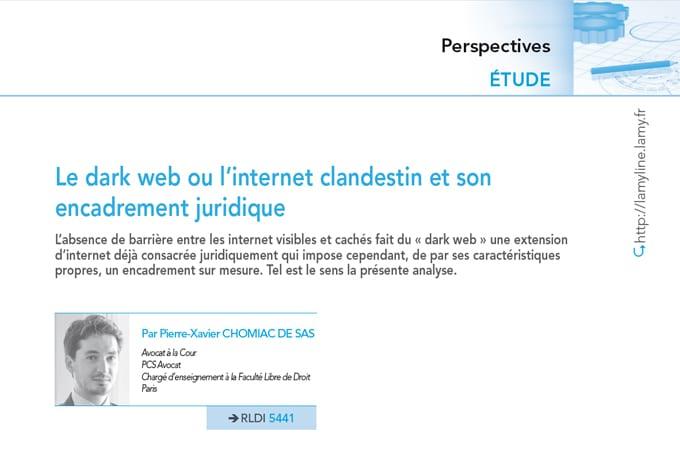 Dark Web & Dark Net - PCS Avocat - Encadrement juridique de l'internet clandestin