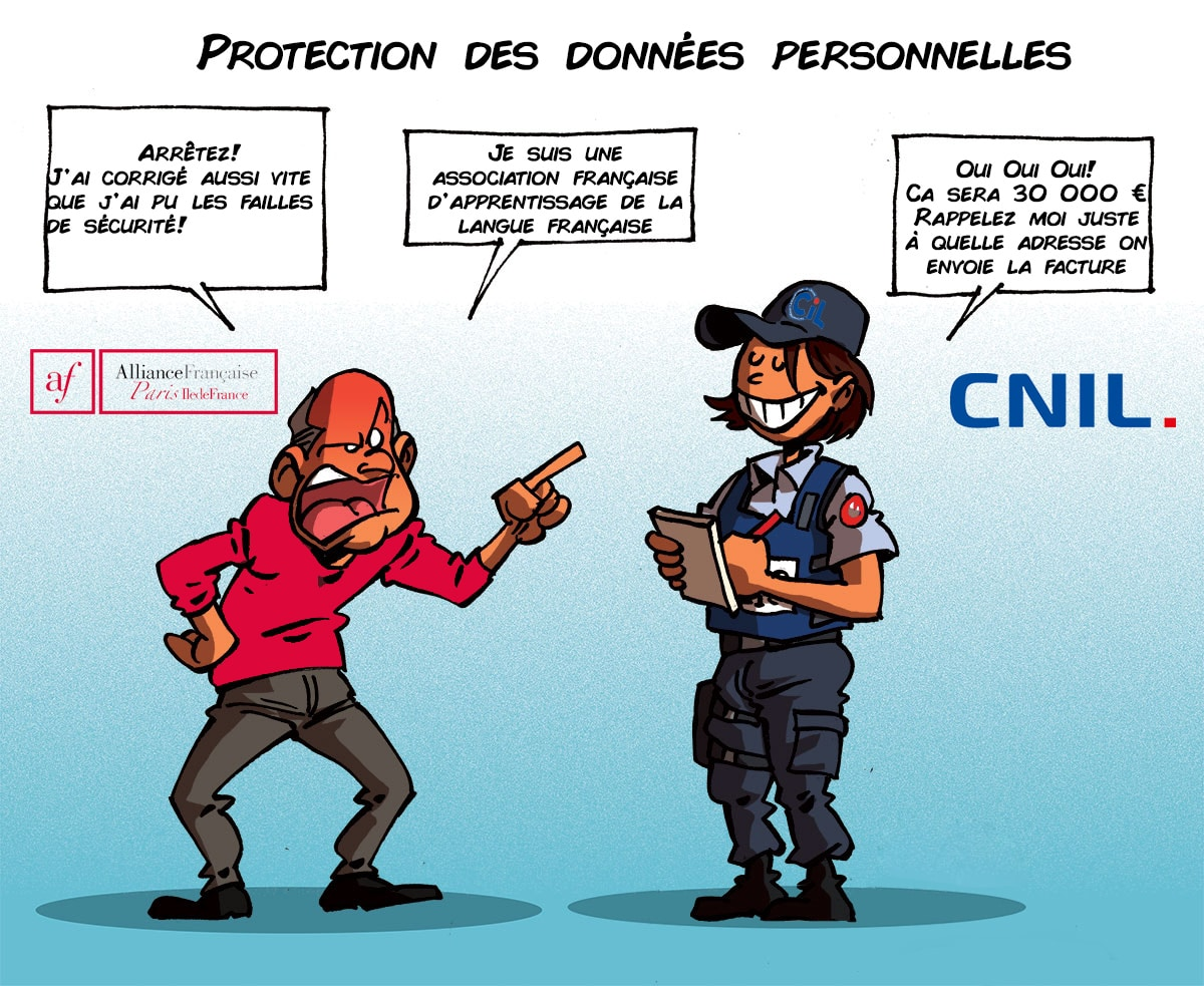 Sanction de l'association Alliance France par la CNIL pour violation des données personnelles - amende de 100 000 euros