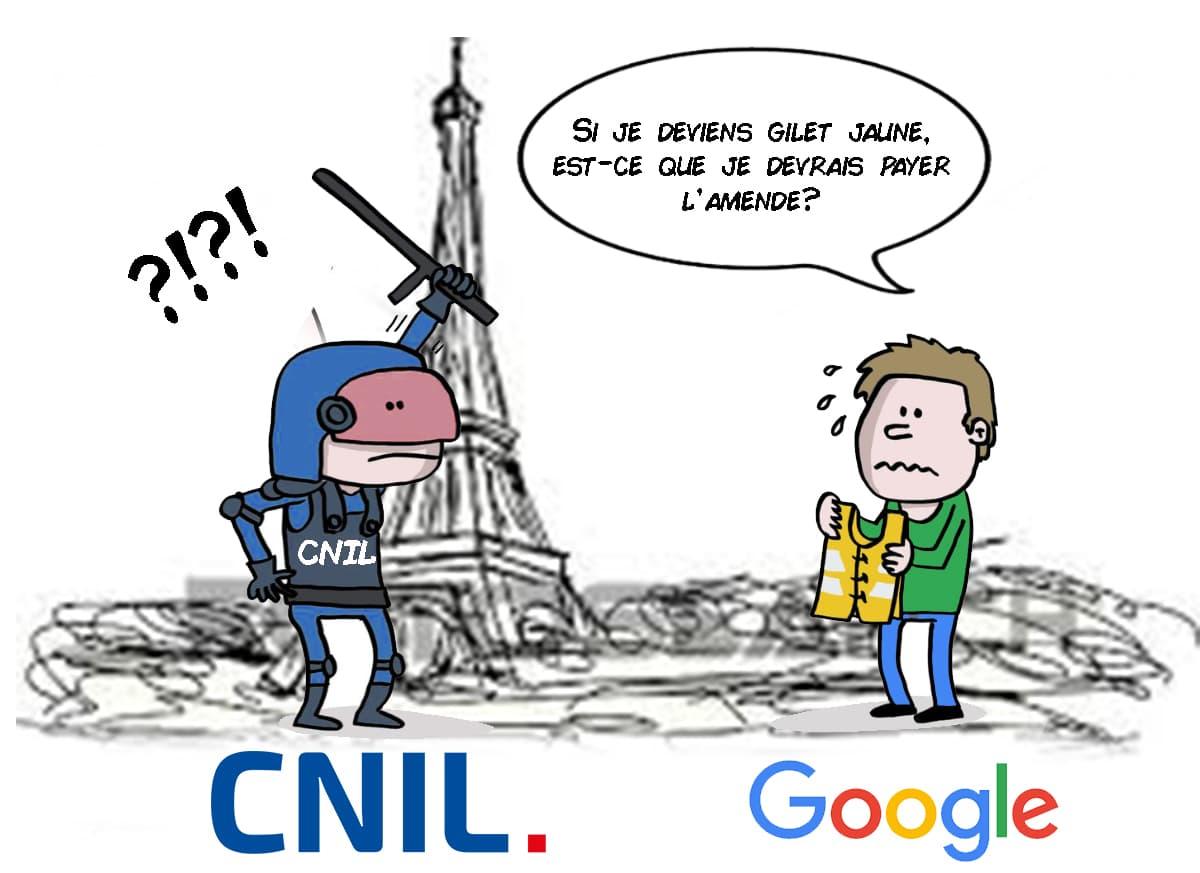 RGPD & CNIL - Protection des données personnelles - Sanction Google