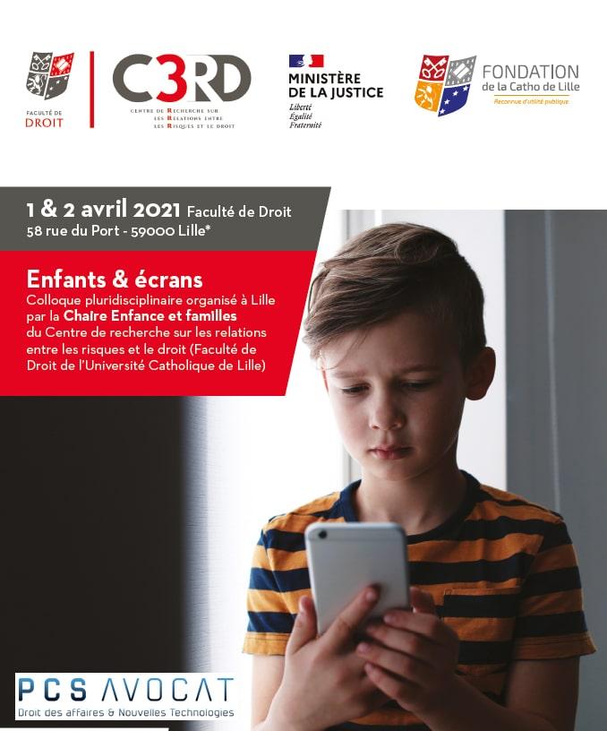 Colloque « Enfants & Ecran » Université catholique de Lille influenceurs mineurs spectateurs