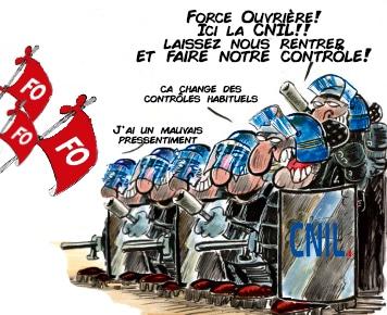 CNIL et RGPD - Données personnelles - Sanction Force Ouvrière