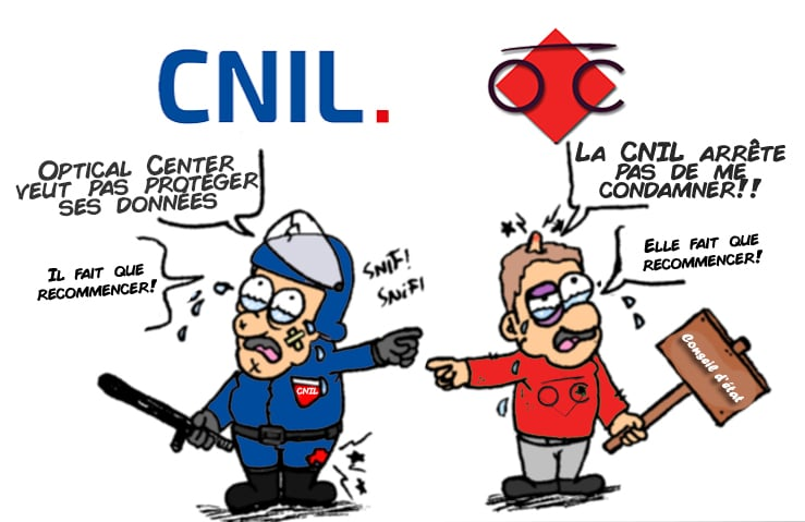 RGPD et CNIL - Sanction Traitement de données personnelles - Manquements d'optical Center