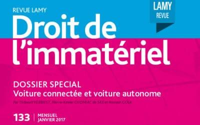 Lamy – Un droit autonome pour les voitures autonomes