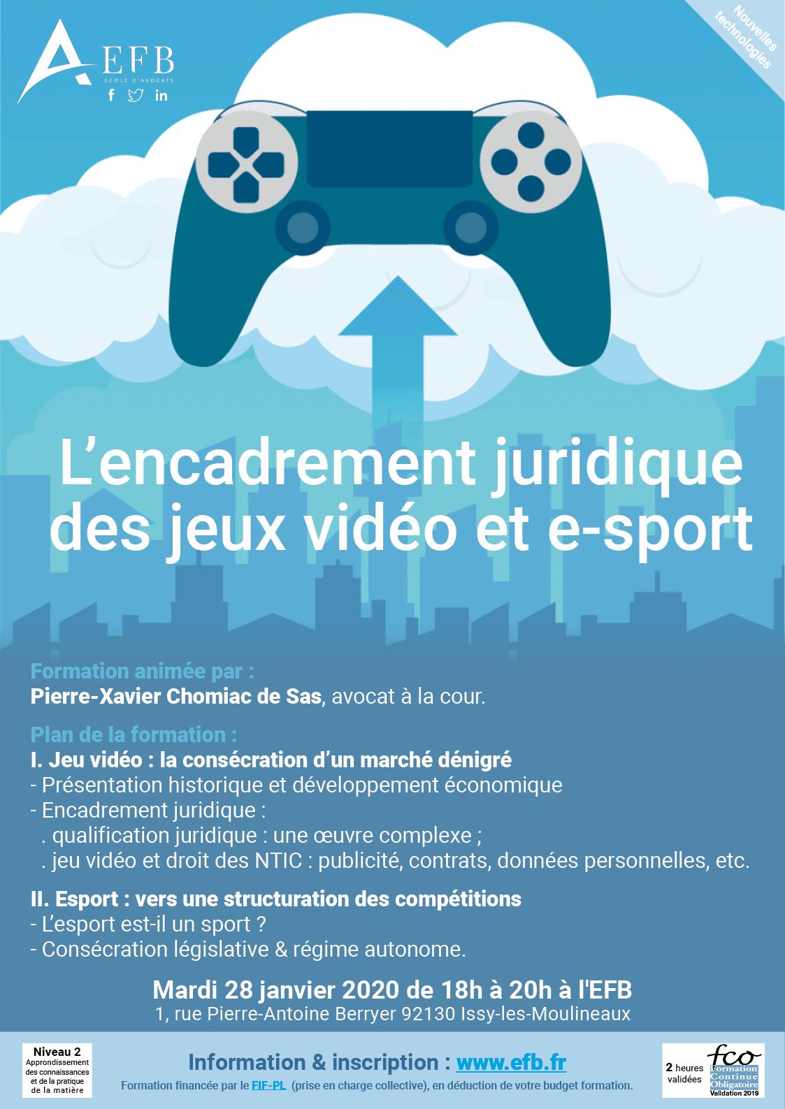 EFB Avocats - Droit de l'esport et des jeux vidéo - PCS Avocat - Loi et contrats esportifs